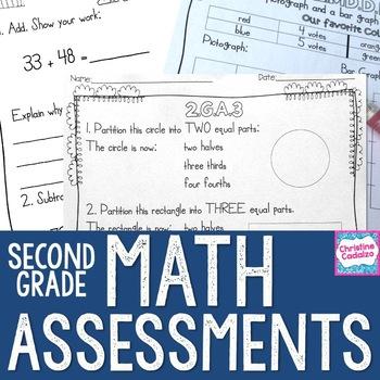 Second Grade Math Assessments - Common Core Math Assessments
