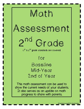 Second Grade Math Assessment - Primary Math 1 QUICK