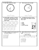 Second Grade Math Assessment
