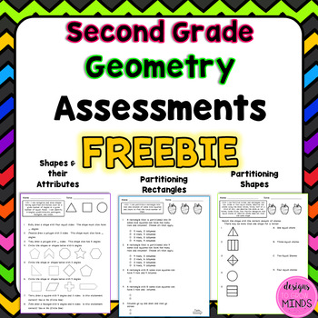 Second Grade Math Assessments- 2.G.1, 2.G.2, 2.G.3 FREEBIE!!!