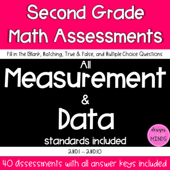 Second Grade Math Assessments- 2.MD.1-2.MD.10 Bundle