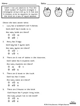 Second Grade Math Assessments- 2.OA.1, 2.OA.2, 2.OA.3, 2.OA.4 FREEBIE!!!