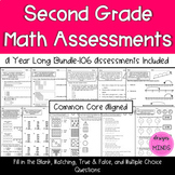 2nd Grade Math Assessments-Year Long Bundle