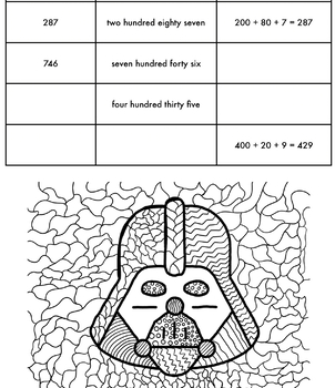 Second Grade Math BOY Assessment (Star Wars) English