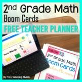 Second Grade Math Boom Cards Free Teacher Planner