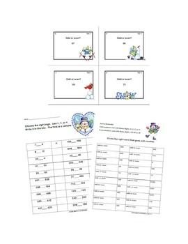 Second Grade Math Bundle- 5 Common Core Standards-Winter Theme