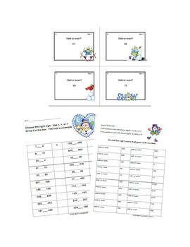 Second Grade Math Bundle- 5 Common Core Standards-Winter Theme