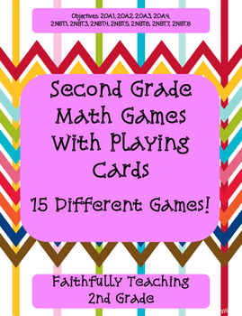 Second Grade Math Cards Games Center