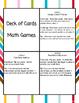 Second Grade Math Cards Games Center