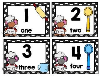 Second Grade Math Center: 100's Chart Math Activity (Baking Mice Theme)
