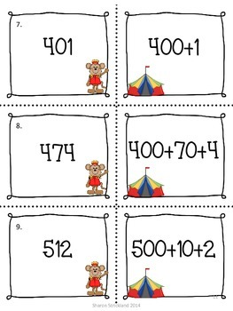 Second Grade Math Center Activities-Common Core 2.NBT. 1 and 3-Place Value