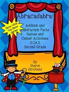 Second Grade Math Center Activities-Common Core 2.OA.2- Add/Sub Facts