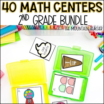 Second Grade Math Centers - BUNDLE