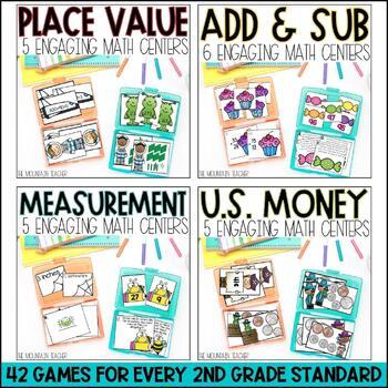 Second Grade Math Centers - BUNDLE
