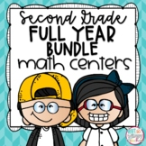 Second Grade Math Centers Growing Bundle