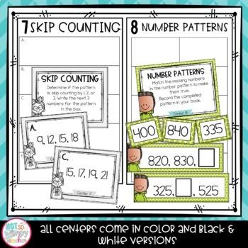 Second Grade Math Centers Growing Bundle