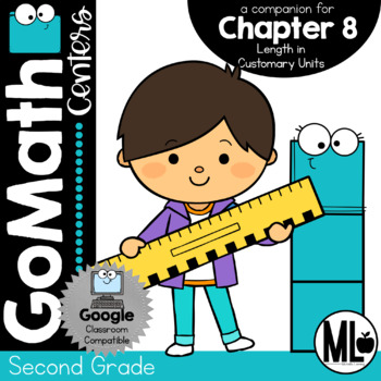 Second Grade Math Centers, Length in Customary Units, Chapter 8