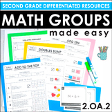 Second Grade Math Centers and Groups (2.OA.2 Addition & Su