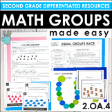 Second Grade Math Centers and Groups (2.OA.4 Equal Groups