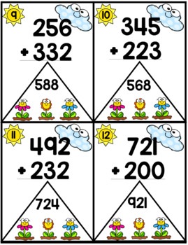 Second Grade Spring Math Centers and Worksheets