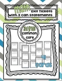 Second Grade Math Common Core Aligned Exit Tickets with I