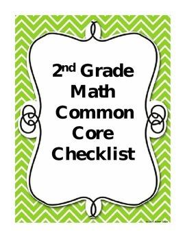 Second Grade Math Common Core Checklist