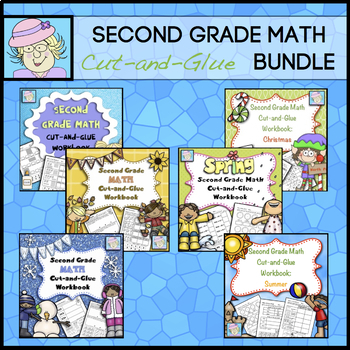 2nd Grade Math Worksheets | 2nd Grade Math Review BUNDLE