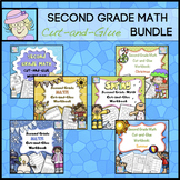 Second Grade Math Review Packets Worksheets ENTIRE YEAR
