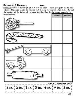Winter Holidays: Christmas Cut-and-Glue Math for Second Grade