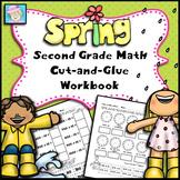 Second Grade Math Common Core Cut-and-Glue Workbook:  Spri