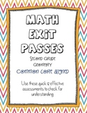 Second Grade Math - Common Core Exit Passes - Geometry