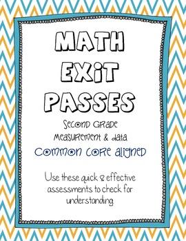 Second Grade Math - Common Core Exit Passes - Measurement & Data