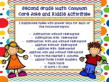 Math Riddle Activities