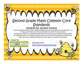Second Grade Math Common Core Standards (Bee Themed)