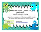 Second Grade Math Common Core Standards (Under The Sea Themed)