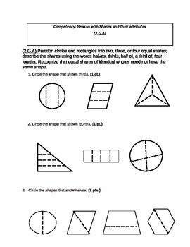 Second Grade Math Connects Ch. 9 Common Core Assessment and Coversheet