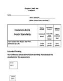 Second Grade Math Connects Ch. 9 Common Core Assessment an