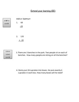 Second Grade Math Connects Common Core Chapter 1 Assessment
