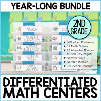 Second Grade Math Enrichment Year Long Bundle   M.A.T.H. Workshop & Guided Math