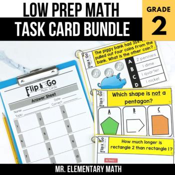 2nd Grade Math Task Cards BUNDLE