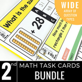 2nd Grade Math Task Cards BUNDLE | Varied Question Types