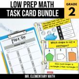 2nd Grade Math Task Cards BUNDLE   Varied Question Types