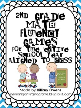 Second Grade Math Fluency Games *For the WHOLE Year*