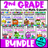 2nd Grade Math Games Holidays Bundle: Thanksgiving Math, Christmas Math etc