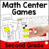 End of Year Second Grade Math Games Bundle
