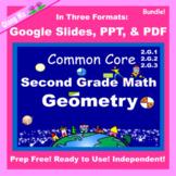 2nd Grade Math Geometry Bundle 2G Google Slides and PDF fo