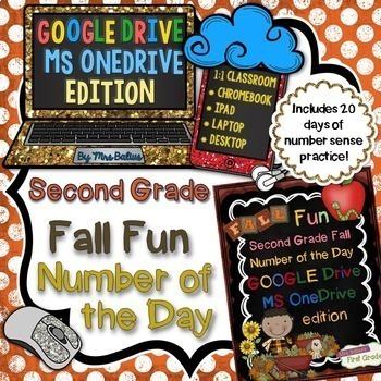 Back to School Second Grade Math Paperless Number of the Day Fall