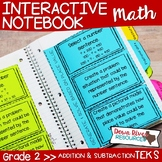 Second Grade Math Interactive Notebook: Addition & Subtraction within 1,000 TEKS