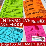 Second Grade Math Interactive Notebook Bundle- All TEKS Standards
