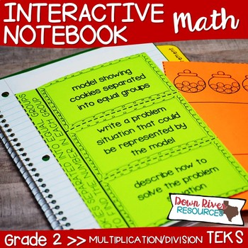 Second Grade Math Interactive Notebook: Contextual Multiplication & Division